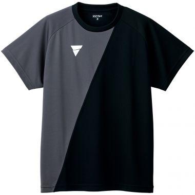 VICTAS,卓球.トレーニングシャツ,プラクティスシャツ,練習着,Tシャツ,V-TS230,RDBK(レッド×ブラック)