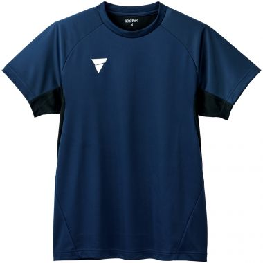 VICTAS,卓球,プラクティスシャツ,練習着,Tシャツ,V-TS231,NV(ネイビー)