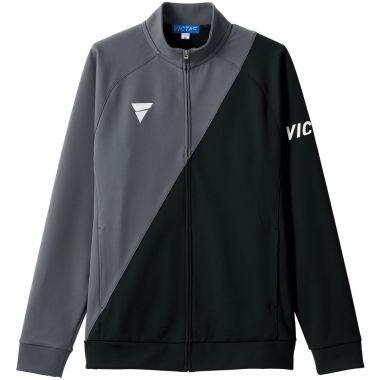 VICTAS,卓球,ジャージ,V-JJ227,GY×BK(グレー×ブラック)