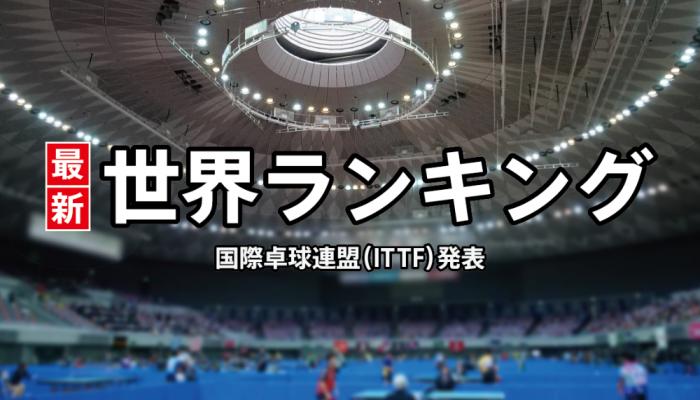 卓球 女子世界ランキング(女子総合/女子U-21)2020年4月