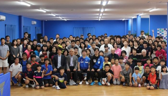 丹羽孝希、高松で卓球イベント