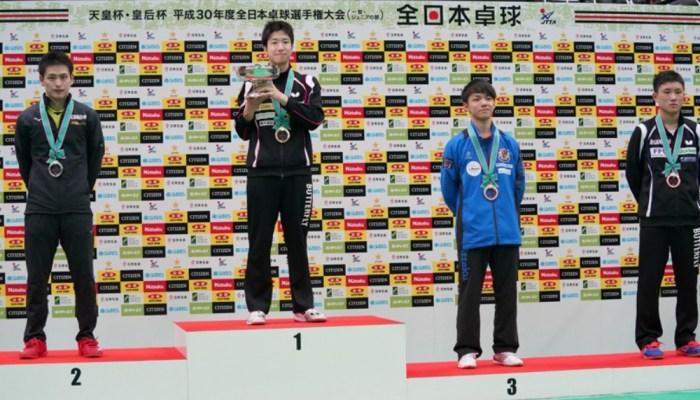 平成30年度全日本卓球/大会最終日 男子シングルス 結果