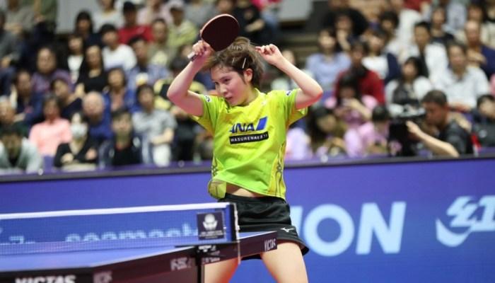 完璧なカット打ちを見せた平野美宇が佐藤瞳にストレート勝ちで準決勝進出!
