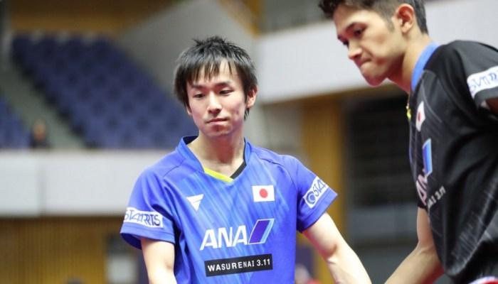 張本智和、丹羽孝希が1回戦で敗れる。