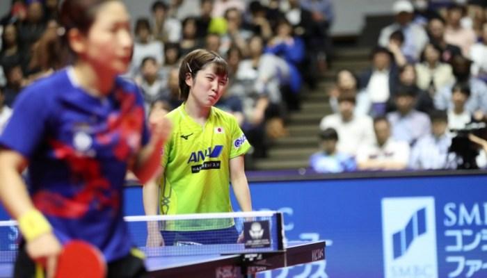 女子シングルス準決勝 平野美宇は劉詩雯に敗れる