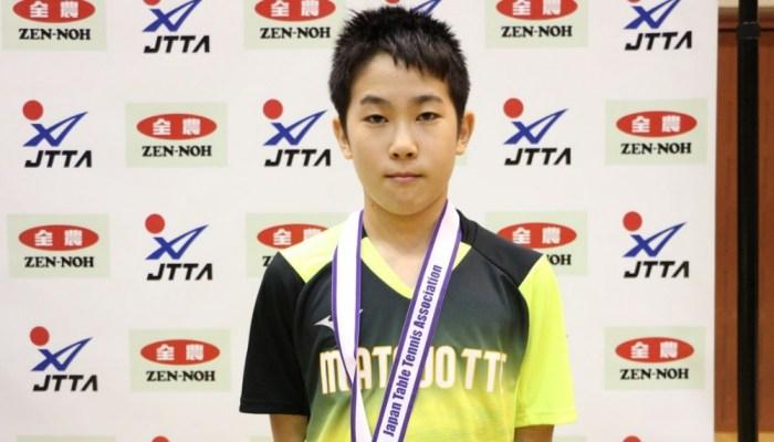 平成30年度 全日本卓球選手権大会(カデットの部) 14歳以下男子シングルス結果