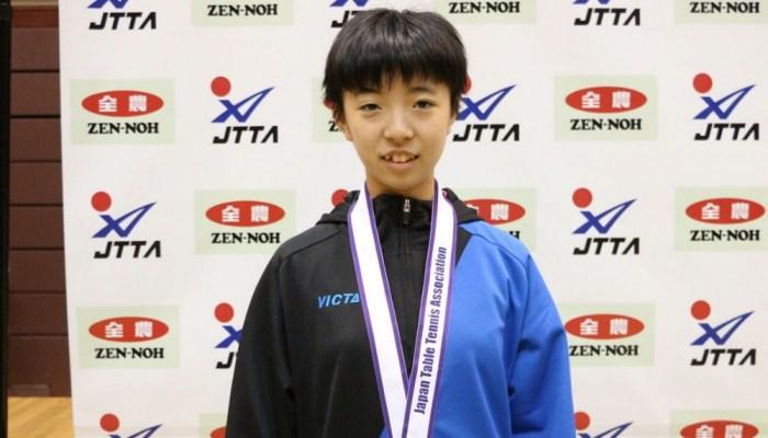 平成30年度 全日本卓球選手権大会(カデットの部) 13歳以下女子シングルス結果
