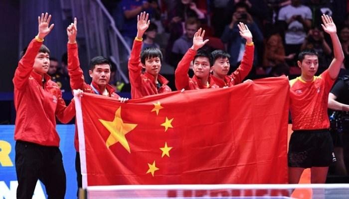 中国強し。ドイツを3−0で下して9大会連続の男子団体V