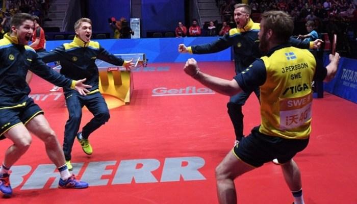 地元スウェーデン、17年ぶりのベスト4。メダルに歓喜!