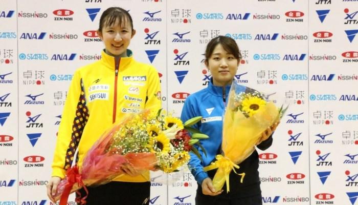 アジア選手権代表選考合宿、女子は早田・安藤が代表権を獲得