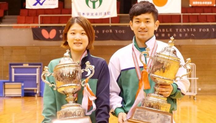 第85回 全日本大学総合卓球選手権大会(個人の部) 最終結果 各ランキング