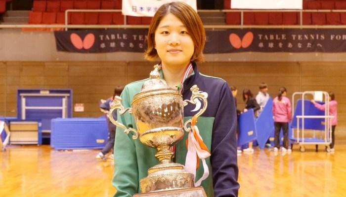 第85回 全日本大学総合卓球選手権大会(個人の部) 大会最終日 女子シングルス