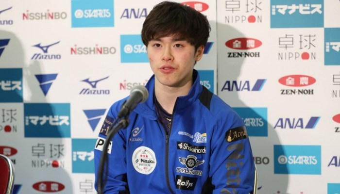 2019年 世界卓球選手権日本代表選考会 記者会見(男子)