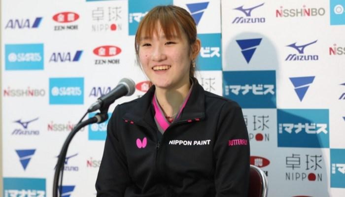 2019年 世界卓球選手権日本代表選考会 記者会見(女子)