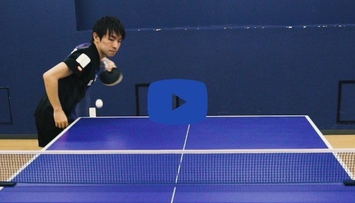 【Technique Video】Koki Niwa's Forehand service vol.2 (Side-up spin)
