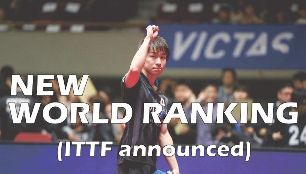 Table Tennis World Ranking Men November 2019 Victas