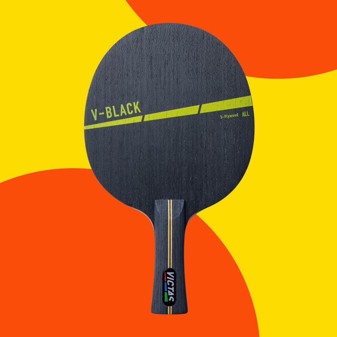 VICTAS ヴィクタス VICTAS PLAY ヴィクタスプレイ 卓球 ラケット V-BLACK V-ブラック V-BLUE V-ブルー V-ORANGE V-オレンジ 初中級者向けラケット ビギナー向けラケット VICTAS PLAYからハジケルデザインのビギナー向けラケットが登場!