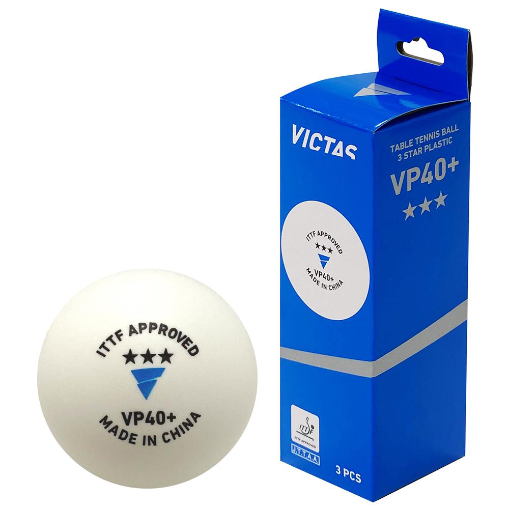 VICTAS 卓球 VP40+3スター 3ヶ入 ボール 3スターボール 公認球