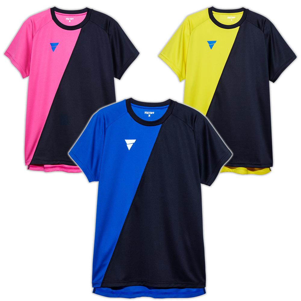 VICTAS プラクティスシャツ V-TS908 練習用 シャツ 卓球 男子 日本代表モデル