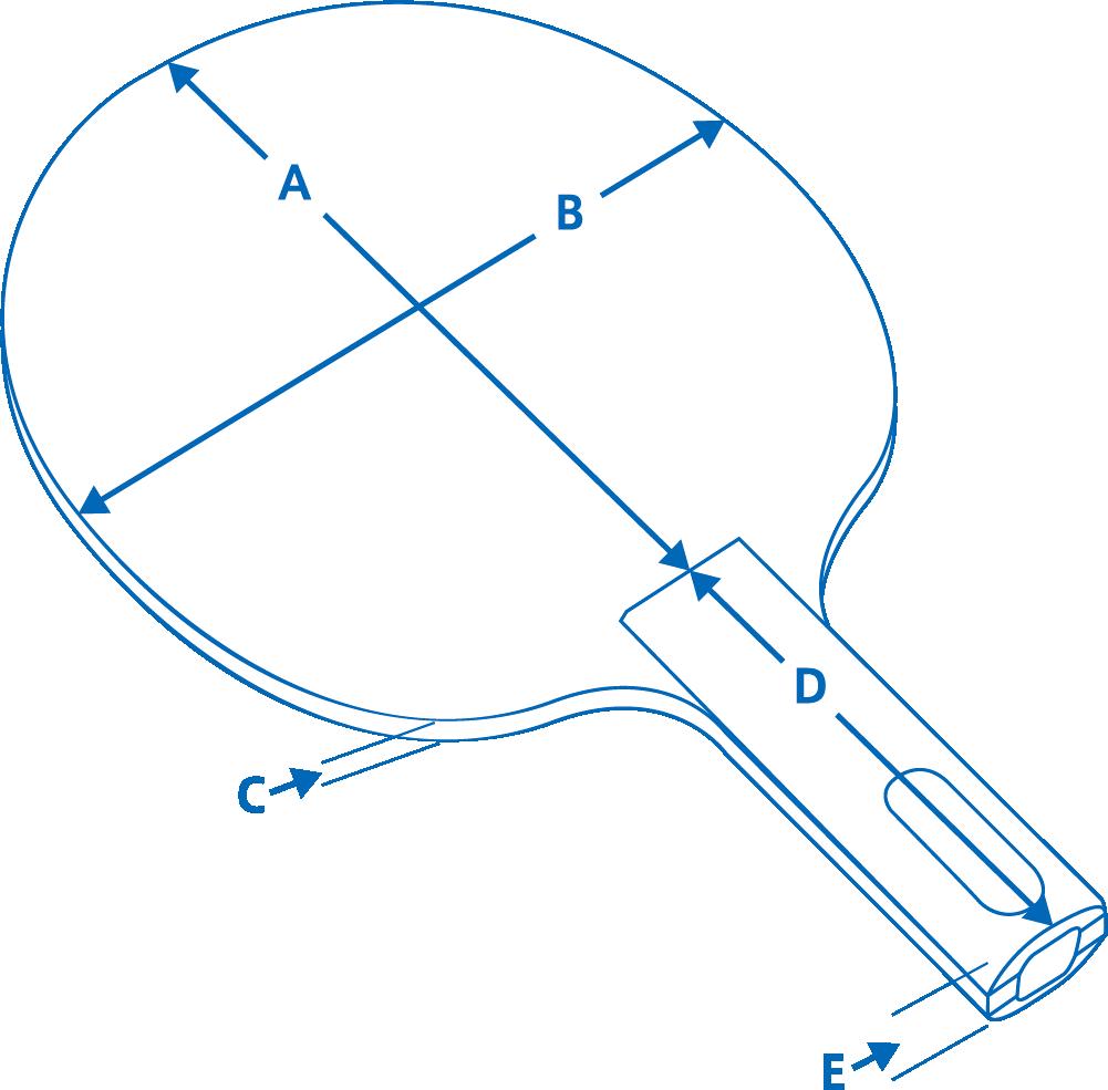 VICTAS ラケット サイズ 卓球