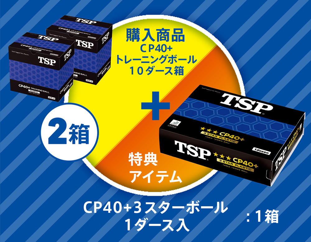 CP+40トレーニングボール10ダース箱 × 2箱  + CP40+3スターボール1ダース入り:1箱