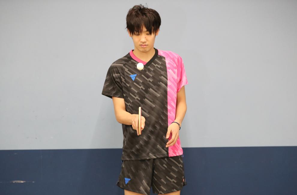 フチで打つ 卓球 リフティング 練習 村松 雄斗 VICTAS 契約選手 カットマン