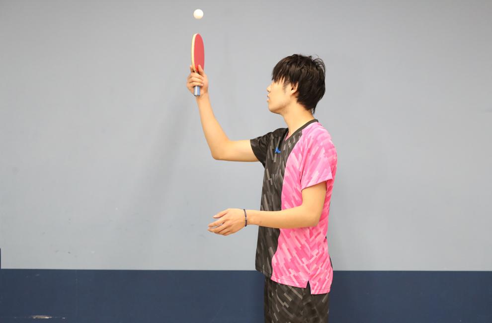 村松 雄斗 VICTAS 契約選手 カットマン 練習 台無し リフティング