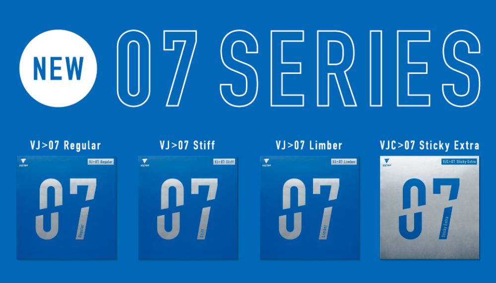07シリーズ VJ>07 Regular VJ>07 Stiff VJ>07 Limber VJC>07 Sticky Extra VICTAS ラバー 裏ソフト