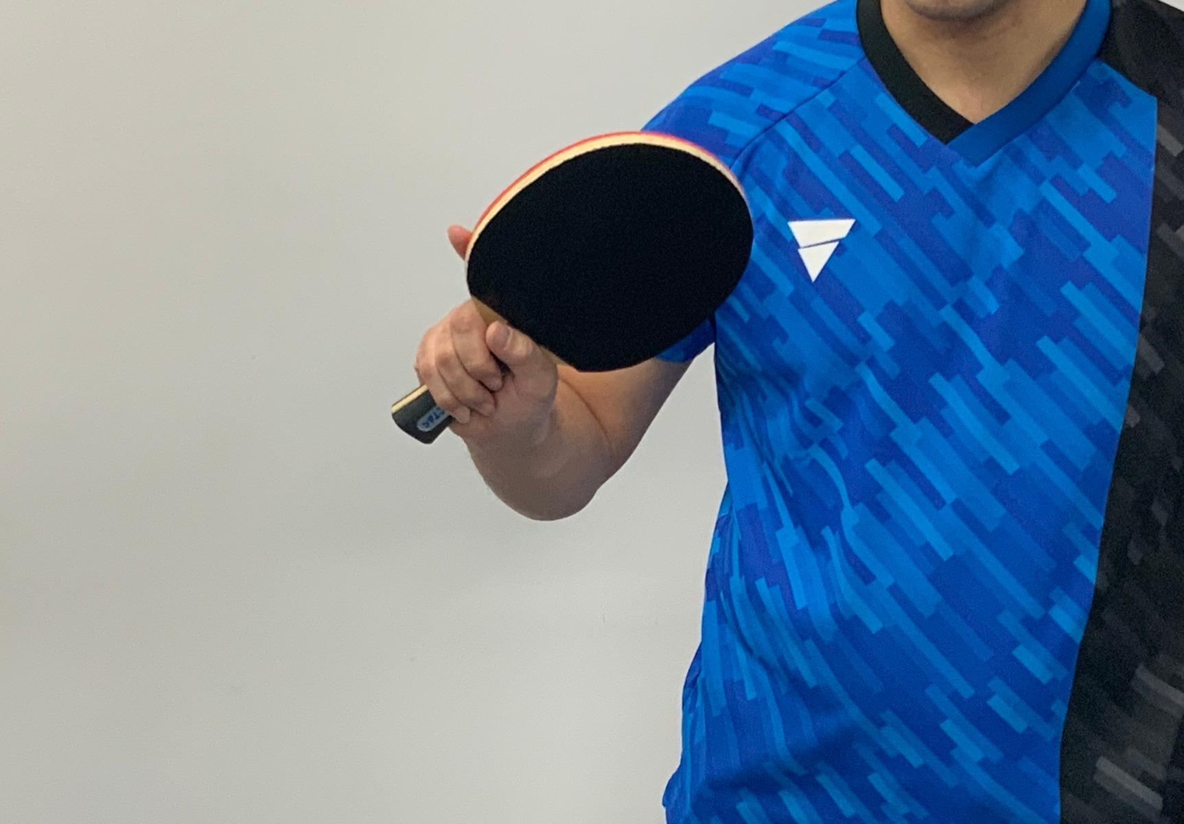 卓球 フォアハンド 練習 スイング 角度打ち