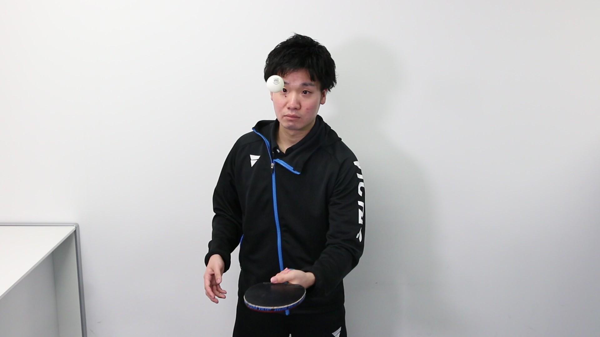 卓球 VICTAS 練習 家 ボールつき リフティング